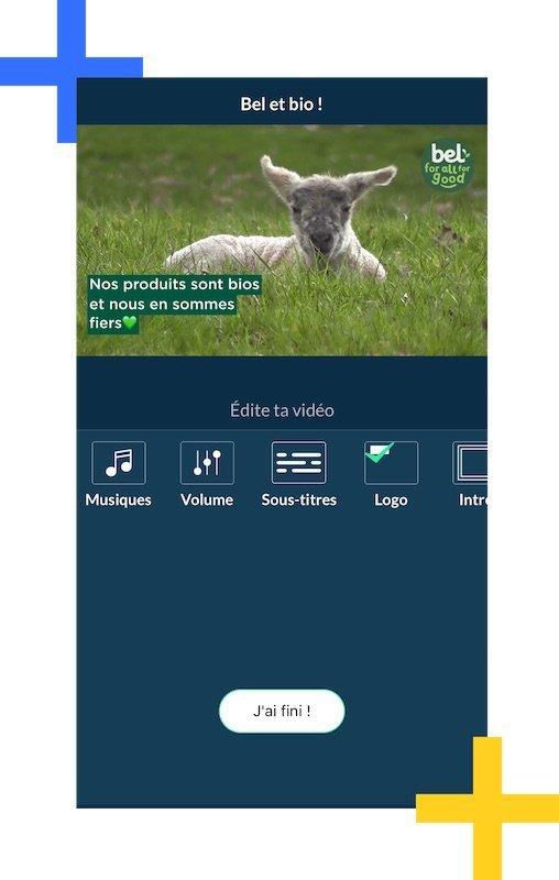 App pour habillage vidéo à la charte entreprise