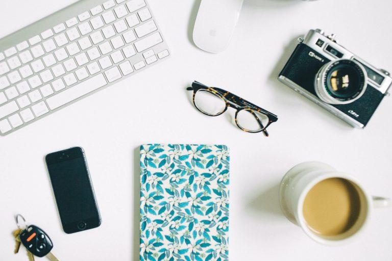 smartphone, café, carnet