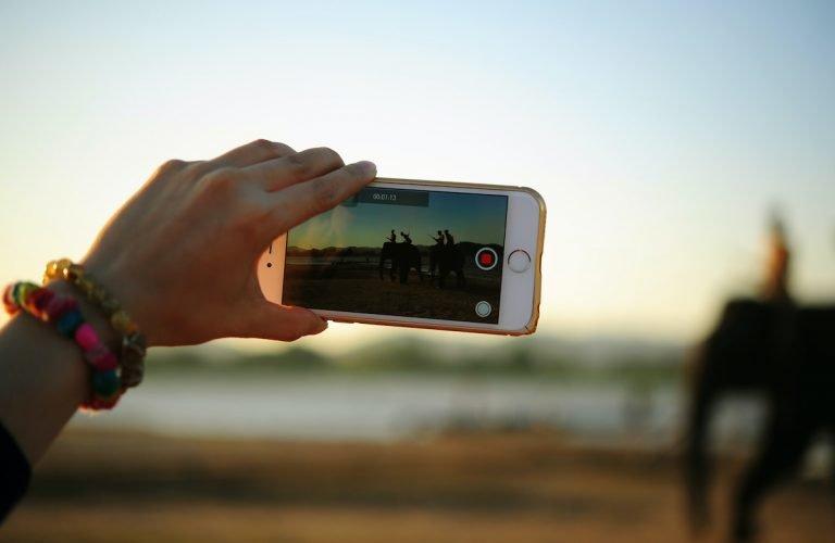 smartphone qui filme