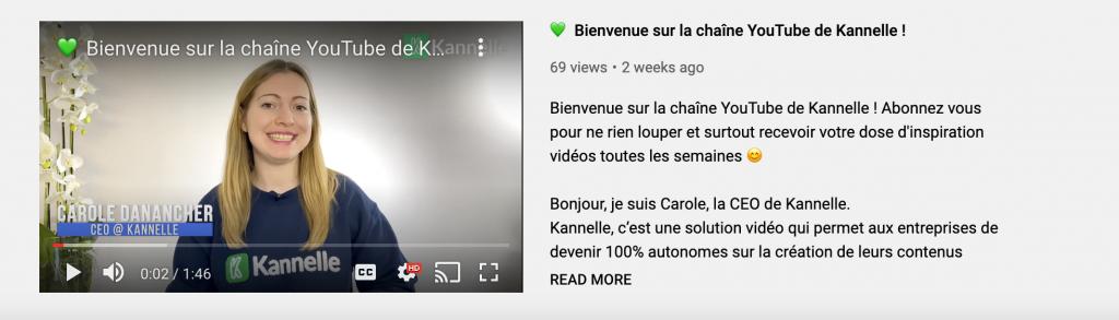 bande-annonce our promouvoir sa chaîne YouTube