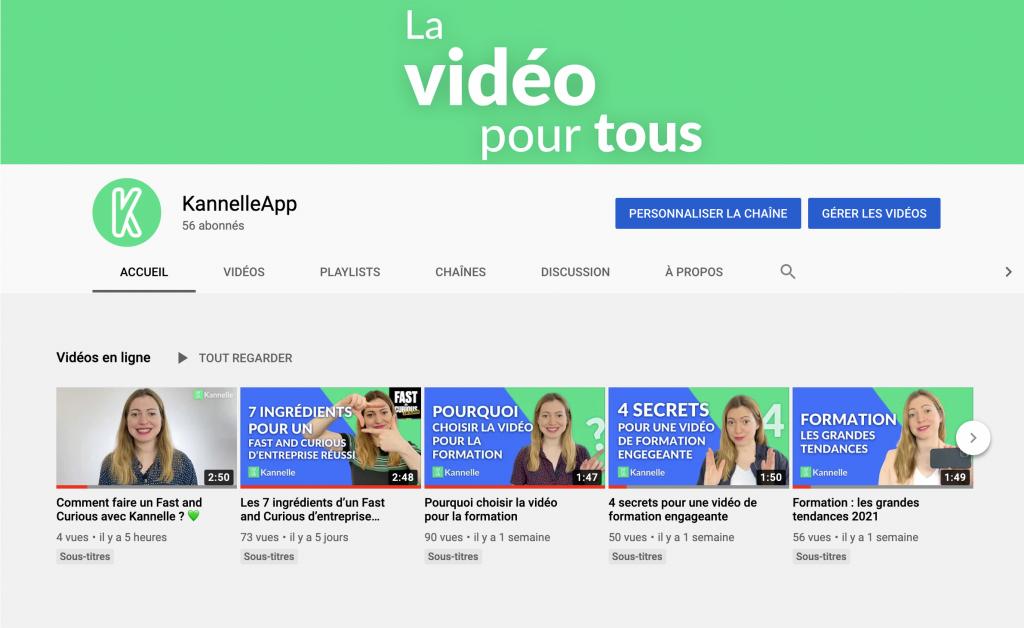 Promouvoir sa chaîne YouTube Kannelle avant