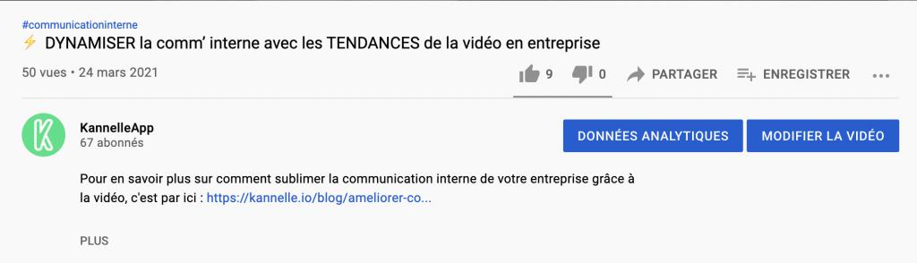 Description YouTube