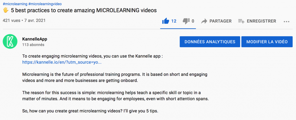 Video description on Youtube