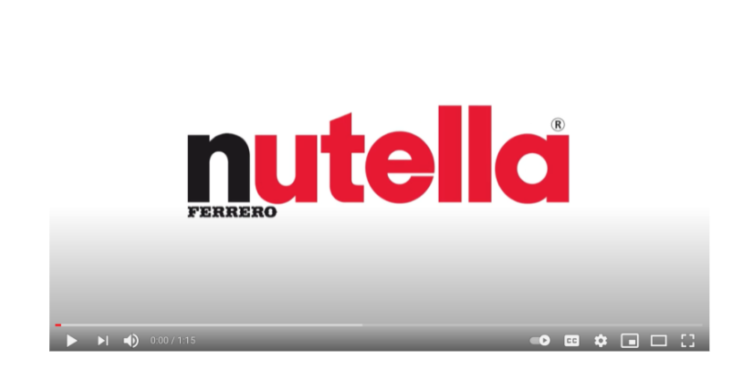Corporate and marketing video by Nutella