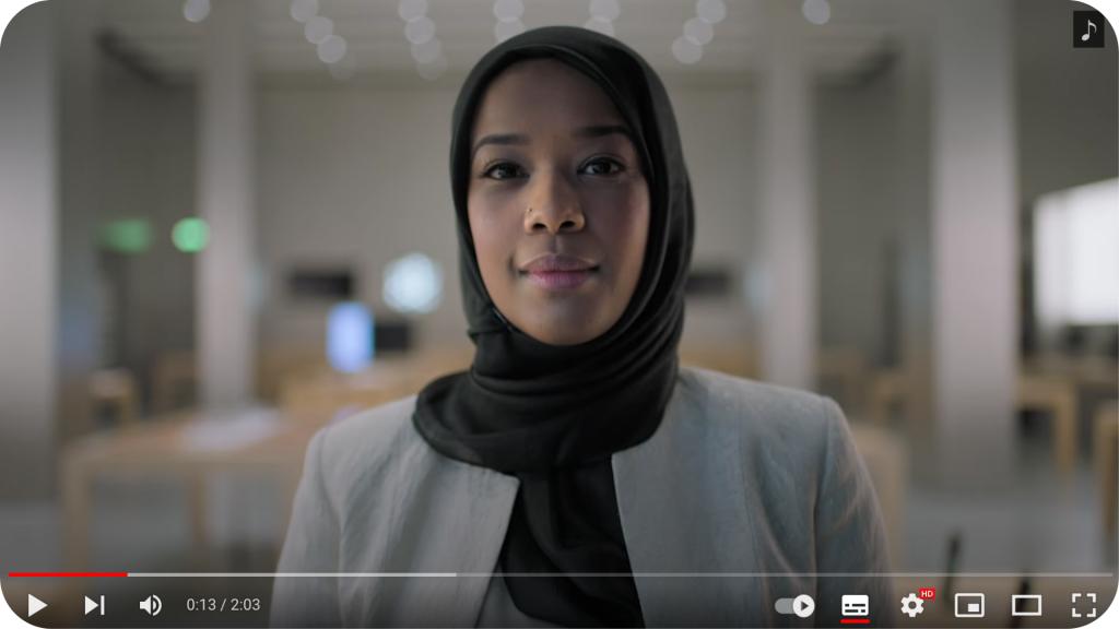 Vidéo sur les valeurs d'Apple