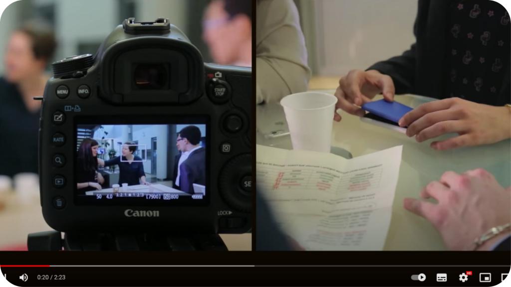 Vidéo sur les stagiaires à AXA