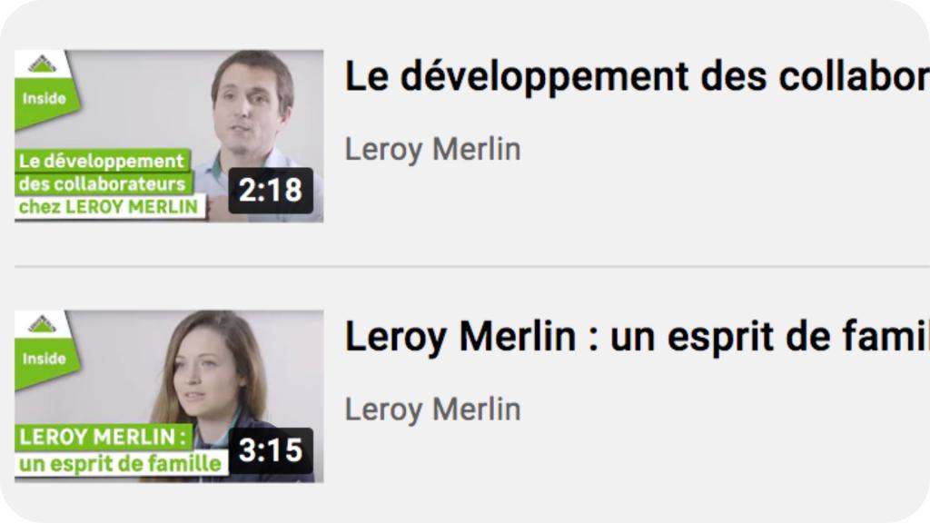 Playlist youtube de Leroy Merlin