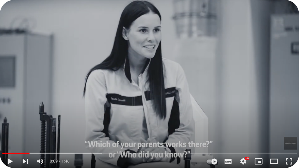 Interview d'une collaboratrice de Porsche